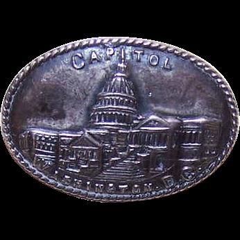 C.1900 STERLING SILVER Pin - The Capitol Building, Washington, D.C. Souvenir