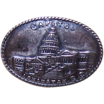 C.1900 STERLING SILVER Souvenir Pin/Brooch - The Capital, Washington, D.C.!