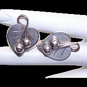 Vintage STERLING SILVER Earrings by Alphonse La Paglia - International Sterling!