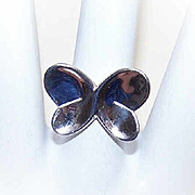Adorable Vintage STERLING SILVER Butterfly Ring!