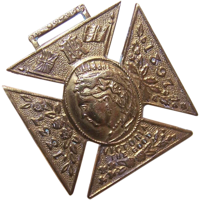 C.1897 English Brass Medal Celebrating QUEEN VICTORIA's Jubilee!