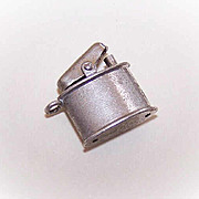 Vintage STERLING SILVER Charm - Cigarette Lighter!