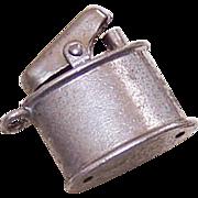 Vintage STERLING SILVER Charm - Cigarette Lighter!
