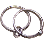 Vintage STERLING SILVER Charm - Wedding Ring & Engagement Ring!