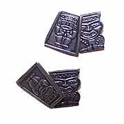 Vintage MEXICAN or PERUVIAN Silver Cufflinks/Cuff Links!