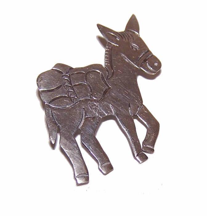 50s Bernice Goodspeed STERLING SILVER Pin/Brooch - Donkey!