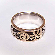 Vintage 18K Gold & Sterling Silver Ring by Aaron Macsai!