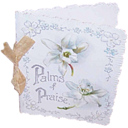 ANTIQUE VICTORIAN Booklet w/Floral Chromos - Palms of Praise - For Easter!