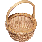 Vintage MINIATURE Nantucket Basket - Swing Handle!