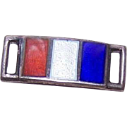 Single STERLING SILVER Link for Forget-Me-Not Bracelet - Enamel Flag for FRANCE!
