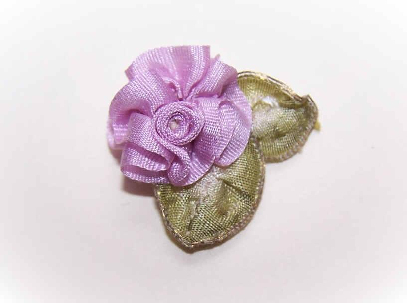 Hand Made 100% SILK Ribbon Floral Applique/Embellishment!