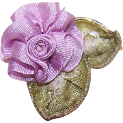Hand Made 100% SILK Ribbon Floral Applique/Embellishment!