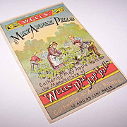 Sweet VICTORIAN Trade Card - Wells' May Apple Pills!