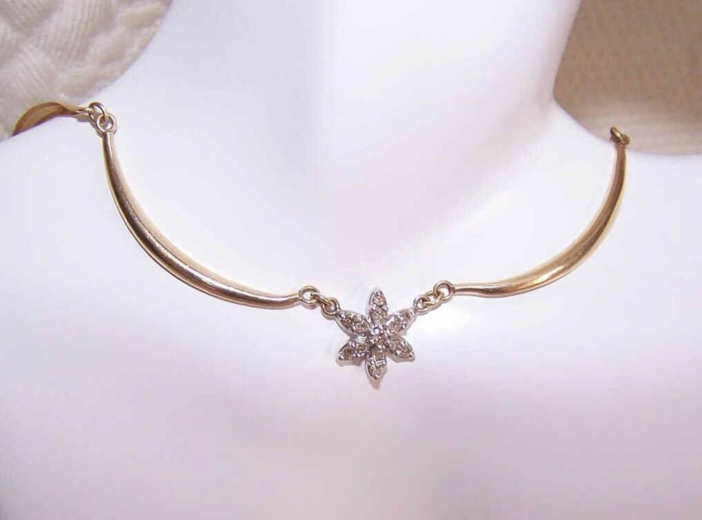 "Vintage 14K Gold & .25CT TW Diamond ""STAR"" Necklace!"
