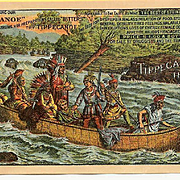 ANTIQUE VICTORIAN Trade Card for Tippecanoe Remedies - Colorful Indian Graphics!