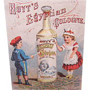 VICTORIAN Trade Card - Hoyt's Egyptian Cologne!