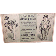 VICTORIAN Trade Card for Parker's Ginger Tonic!