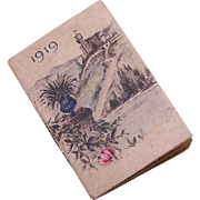 Miniature FRENCH Calendar for 1919!