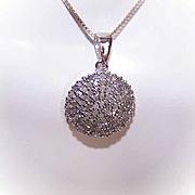 Vintage STERLING SILVER & Diamond Pendant!