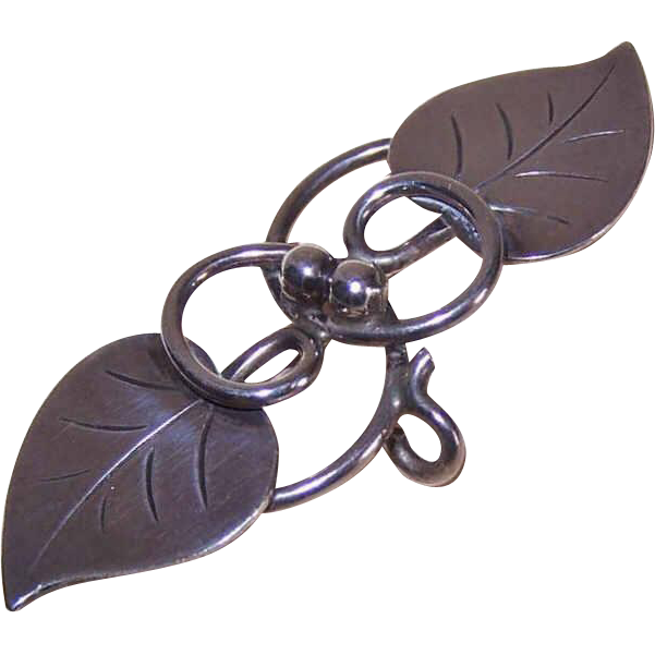 Alphonse LaPaglia for INTERNATIONAL Sterling Silver Watch Pin/Brooch - Design 113!