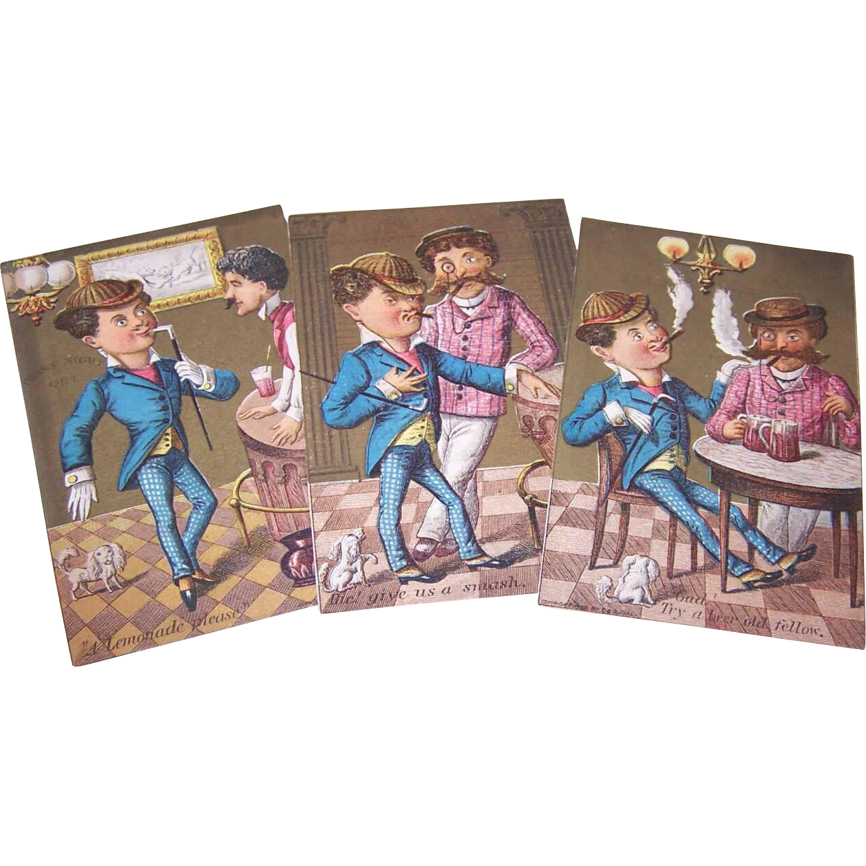 Set/3 ANTIQUE VICTORIAN Trade Cards for Star Cough Drops!