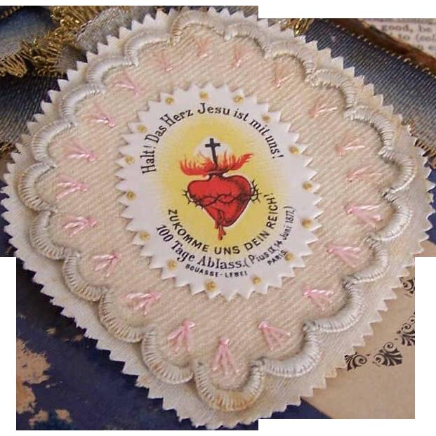 Vintage FRENCH Craft - Agnus Dei Religious Sacramental or Devotional by Bouasse Lebel, Paris!