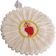 Vintage FRENCH Craft - Agnus Dei Religious Sacramental or Devotional - Sacred Heart!