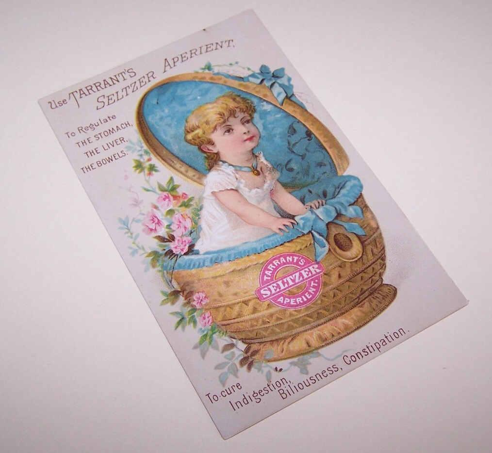 ANTIQUE VICTORIAN Trade Card for Tarrant's Seltzer Aperient!