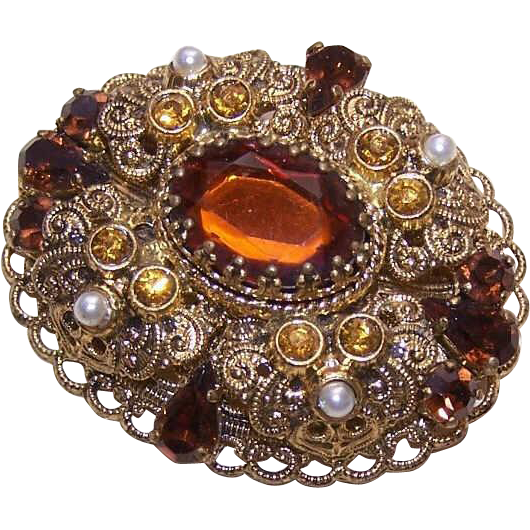 STUNNING Vintage Costume Pin/Brooch - Made in West Germany!