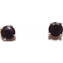 Vintage STERLING SILVER Vermeil & Sapphire Blue CZ Earrings!