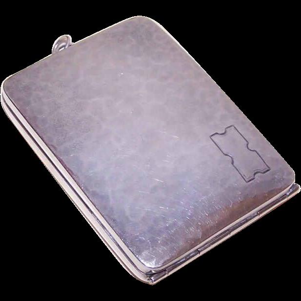 Webster Co. ART DECO Sterling Silver Ladies Case - Cigarette Holder, Compact or Memo Holder!