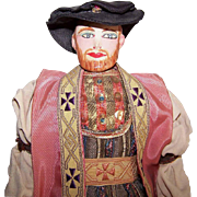 Unique 1940s Folk Doll by Saroff Characters - King Henry VIII!