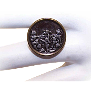 ANTIQUE VICTORIAN Metal Button - A Pair of Putti/Angels/Cupids!