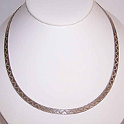 Vintage MILOR, ITALY Sterling Silver Reversible Chain Necklace!