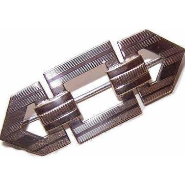Symmetalic ART DECO 14K Gold & Sterling Silver Pin/Brooch