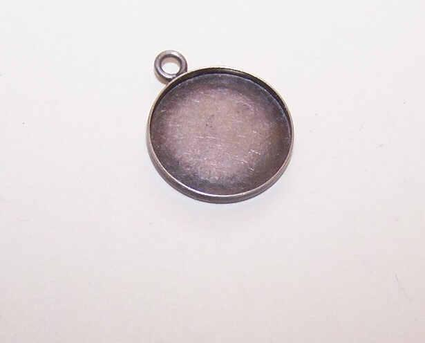 Vintage STERLING SILVER Charm - Small Photo Holder!