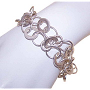 Mexican Retro Modern STERLING SILVER Link Bracelet!