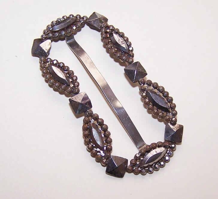 ANTIQUE VICTORIAN Cut Steel Belt or Sash Slide/Buckle!
