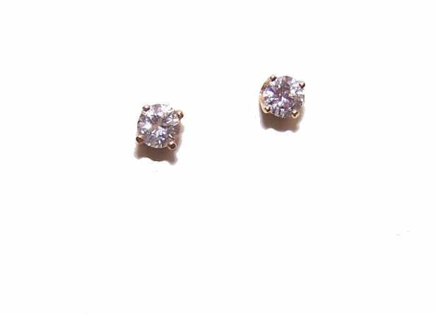 Vintage 14K Gold & .58CT TW Diamond Studs/Pierced Earrings!
