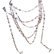 "Interesting Italian STERLING SILVER 68"" Chain Necklace!"