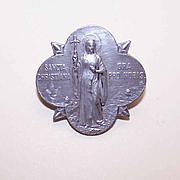 ART DECO Silver Pin/Brooch - Saint Christiana (Saint Nina) of Georgia!