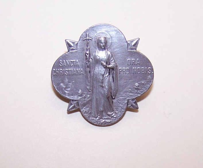 ART DECO Silver Pin/Brooch - Saint Christiana (Saint Nina) of Georgia!
