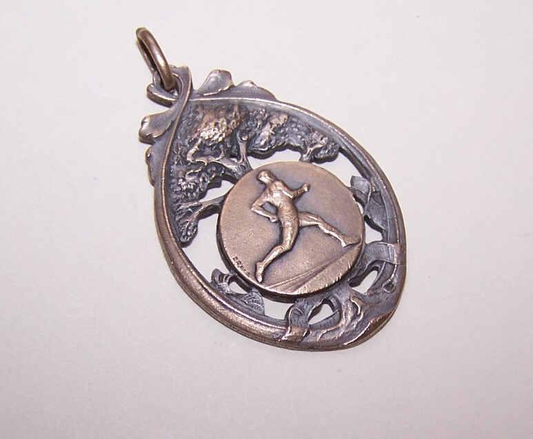 ART DECO Bronze Medal - Award for a Long Distance Runner