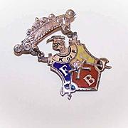 Vintage Gold Filled & Enamel Masonic Pin/Brooch - Knights of Pythias!