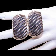 Vintage STERLING SILVER Clip Earrings - Made in Israel!