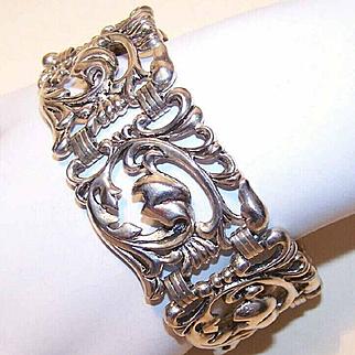 Outstanding STERLING SILVER Link Bracelet by Danecraft!