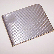 Art Deco STERLING SILVER Cigarette Case by Elgin American!
