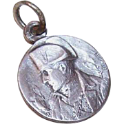 Vintage FRENCH Silverplate Medal/Charm of Napoleon Bonaparte!