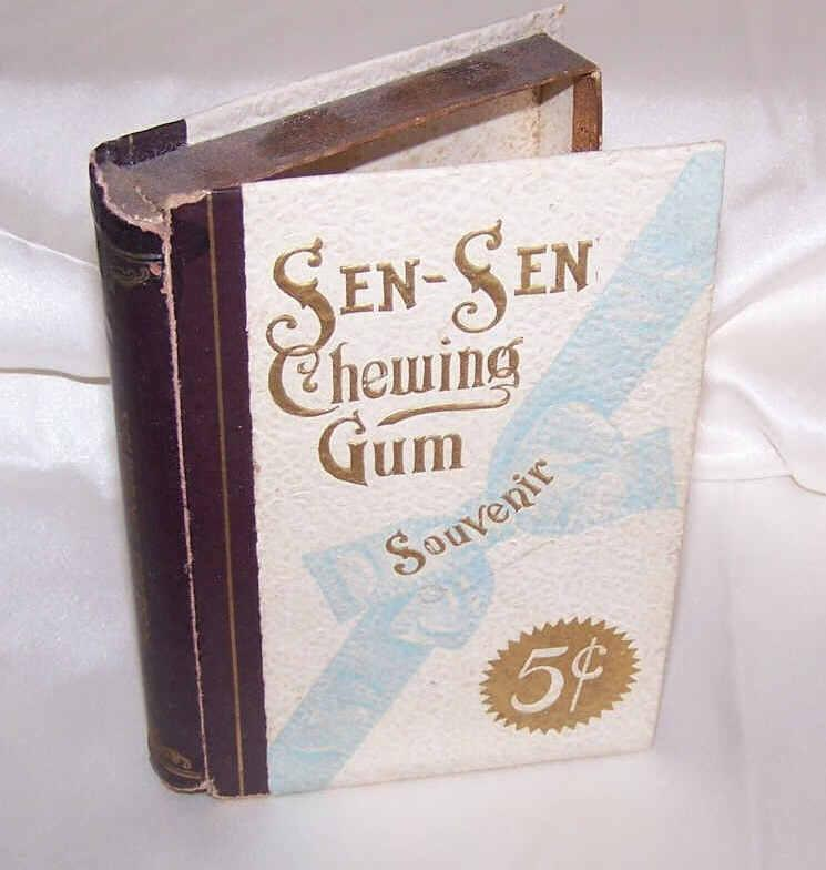 C.1900 EDWARDIAN Sen Sen Chewing Gum Box - Empty but Great Graphics!