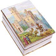FRENCH VICTORIAN Mini Candy/Bon Bon Box - Couple Visiting a Castle Scene!
